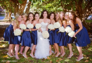 Shayna joined by her Bridesmaids...