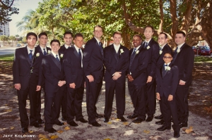...while Kris is joined by his Groomsmen.