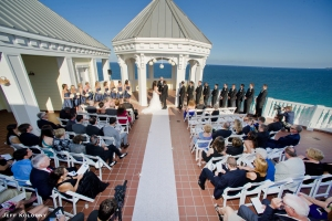 Guests were treated to a breath-taking view during the ceremony.