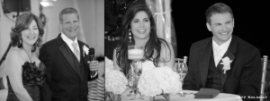 The parents of the bride toasted the new couple with wishes of love...